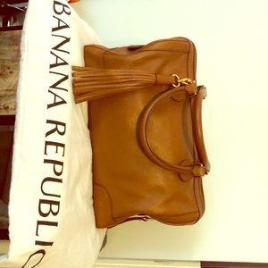 Banana republic tan speedy style purse